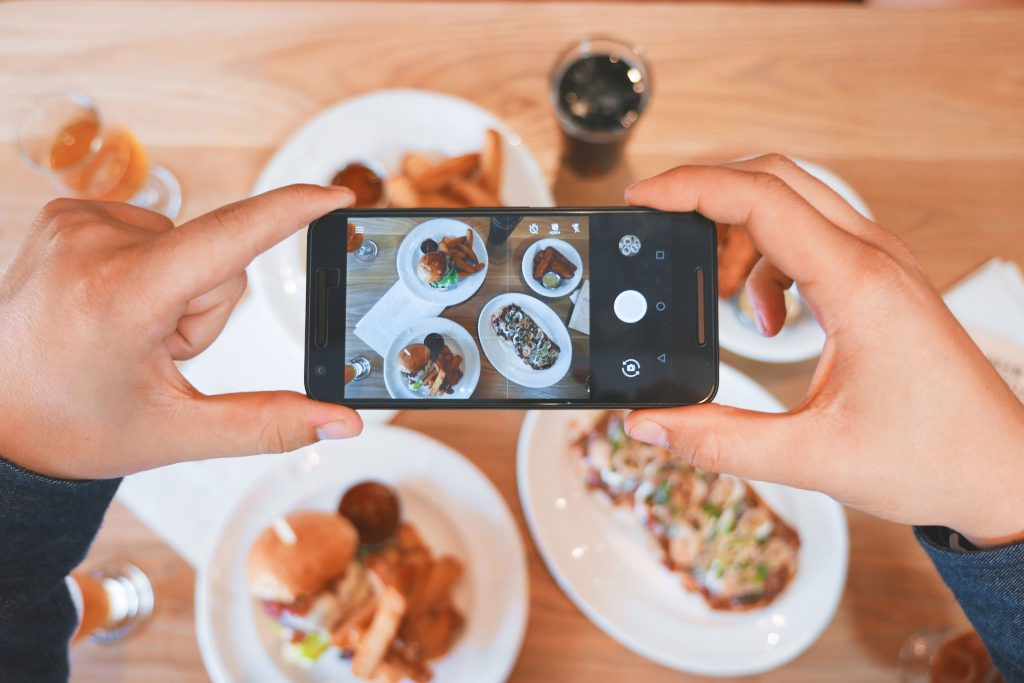 Sharing food image via social media is very popular